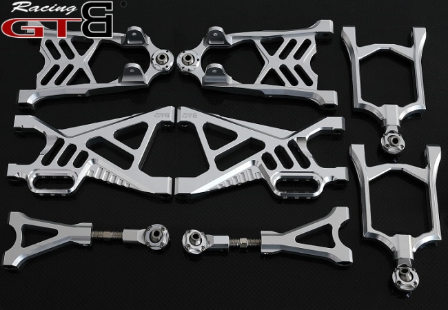 Alloy CNC Front + Rear Suspension Arm for RC 1/5  rovan hpi km baja 5b ss 5sc 5t