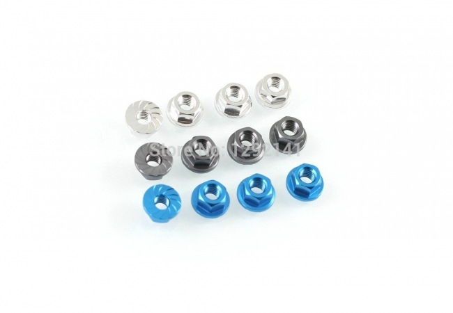 S1/S2/R1/R2 M4 Aluminum Alloy Preventable Looseness Self-Lock Screw Nut